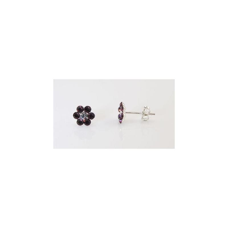 Hõbedast kõrvarõngad swarovski kristallidega
