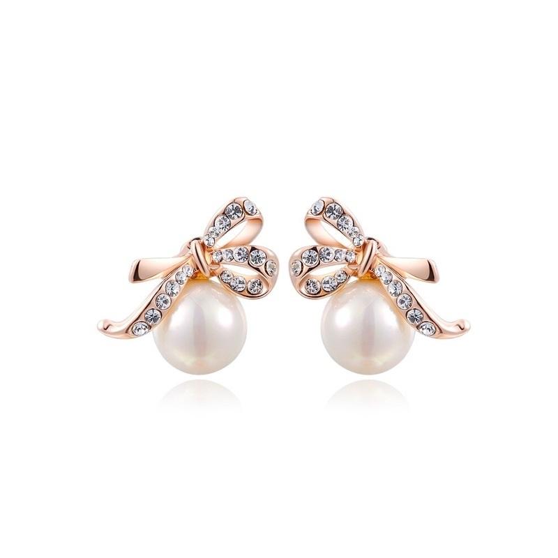 97736deb4c8 Kõrvarõngad pärliga, Austria kristallidega, kullatud