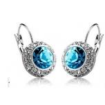 Kõrvarõngad Austria kristallidega, kullatud