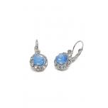 Kõrvarõngad siniste kividega ja kristallidega