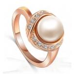 Sõrmus pärliga, kullatud